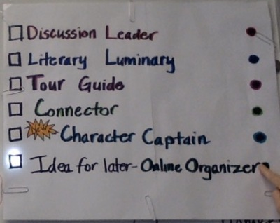 Light Up sign for Literature Circle jobs